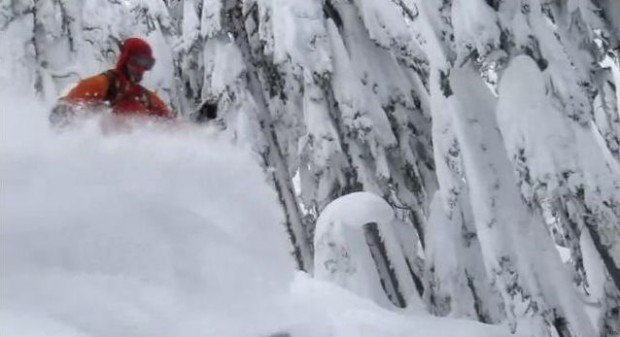 """Alpine Skiing at the Skyline Ridge Route"""