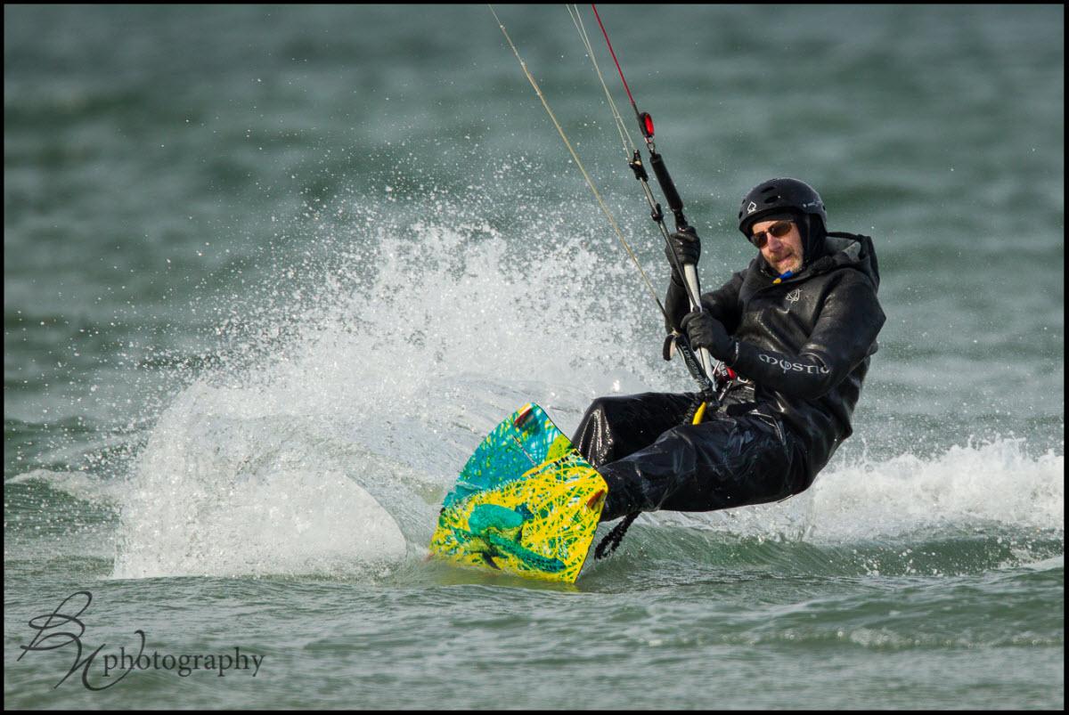 """Kitesurfer at Chapin Memorial Beach"""