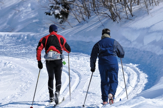 """""""Cross country skiing at Mont Grand Fonds"""""""