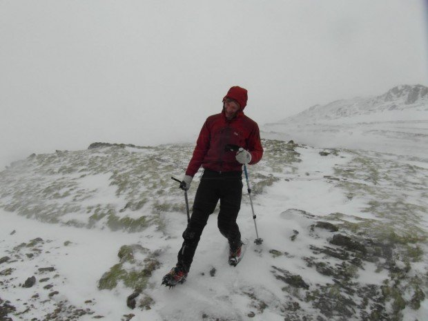 """Hiker at Ladhar Bheinn"""