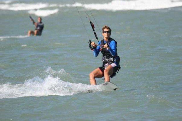 """""""Kitesurfing at Ballston Beach"""""""