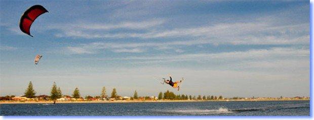 """Kitesurfing at Malindi Beach"""