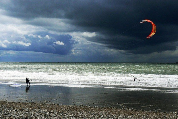 """Kitesurfing at The Magdalen Islands"""