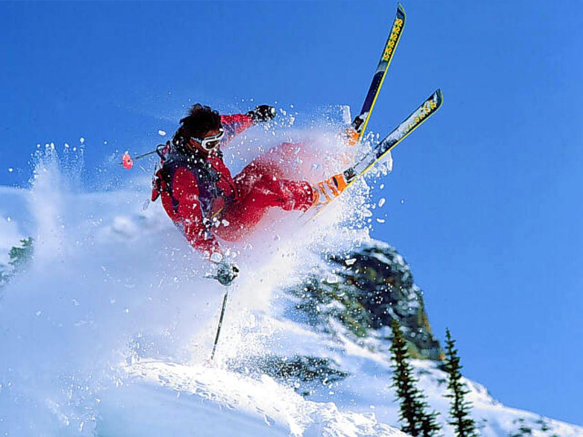 Alpine skiing Mont Tremblant Laurentian Mountains Quebec Canada