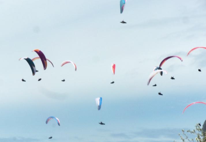 ''Paragliding in Pedra Grande''