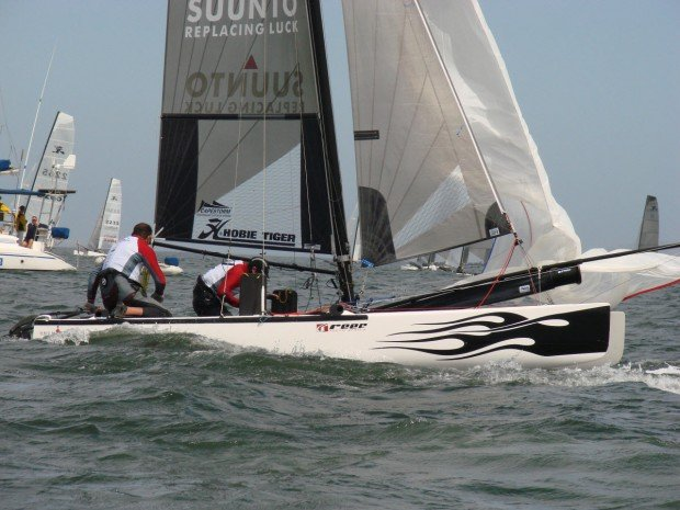 """Sailing race at Langebaan Lagoon"""