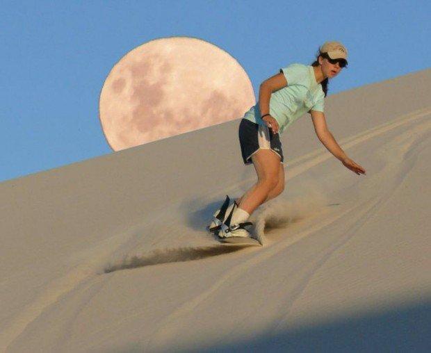 """Sandboarding at Betty's Bay"""