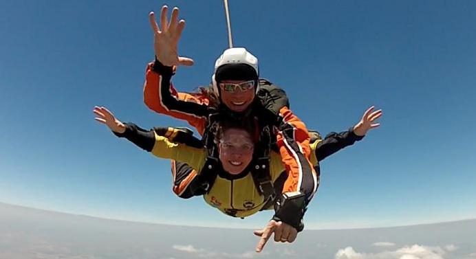 ''Skydiving in Curitiba''