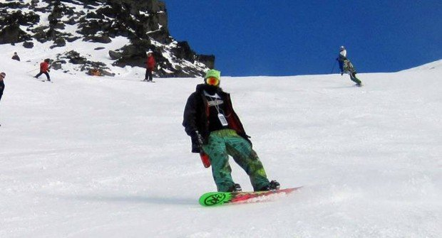 """Snowboarder at Mont Garceau"""