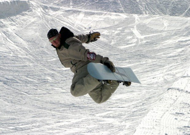 """""""Snowboarder at Mont Olympia"""""""