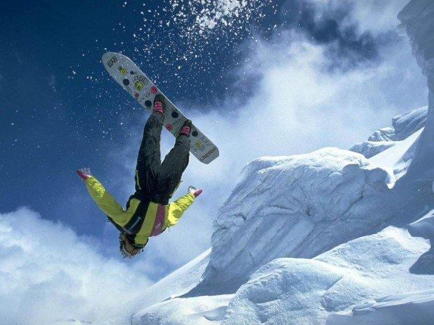 """Snowboarder air trick"""