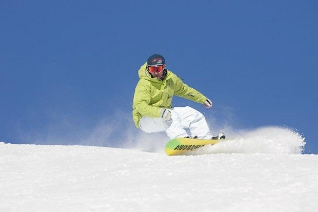 """Snowboarding at Centre de Ski Mont Bechervaise"""