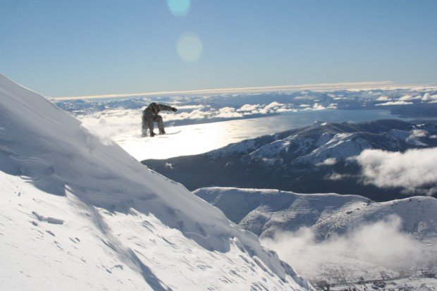 """Snowboarding at Centre de Ski Mont Castor"""