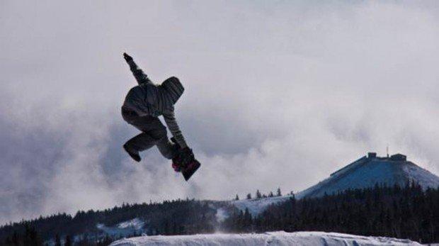 """Snowboarding at Le Massif de Charlevoix"""