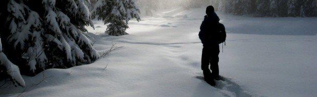 """""""Snowshoeing at Mont la Reserve"""""""