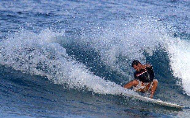 """Surfing Pine Trees Beach"""