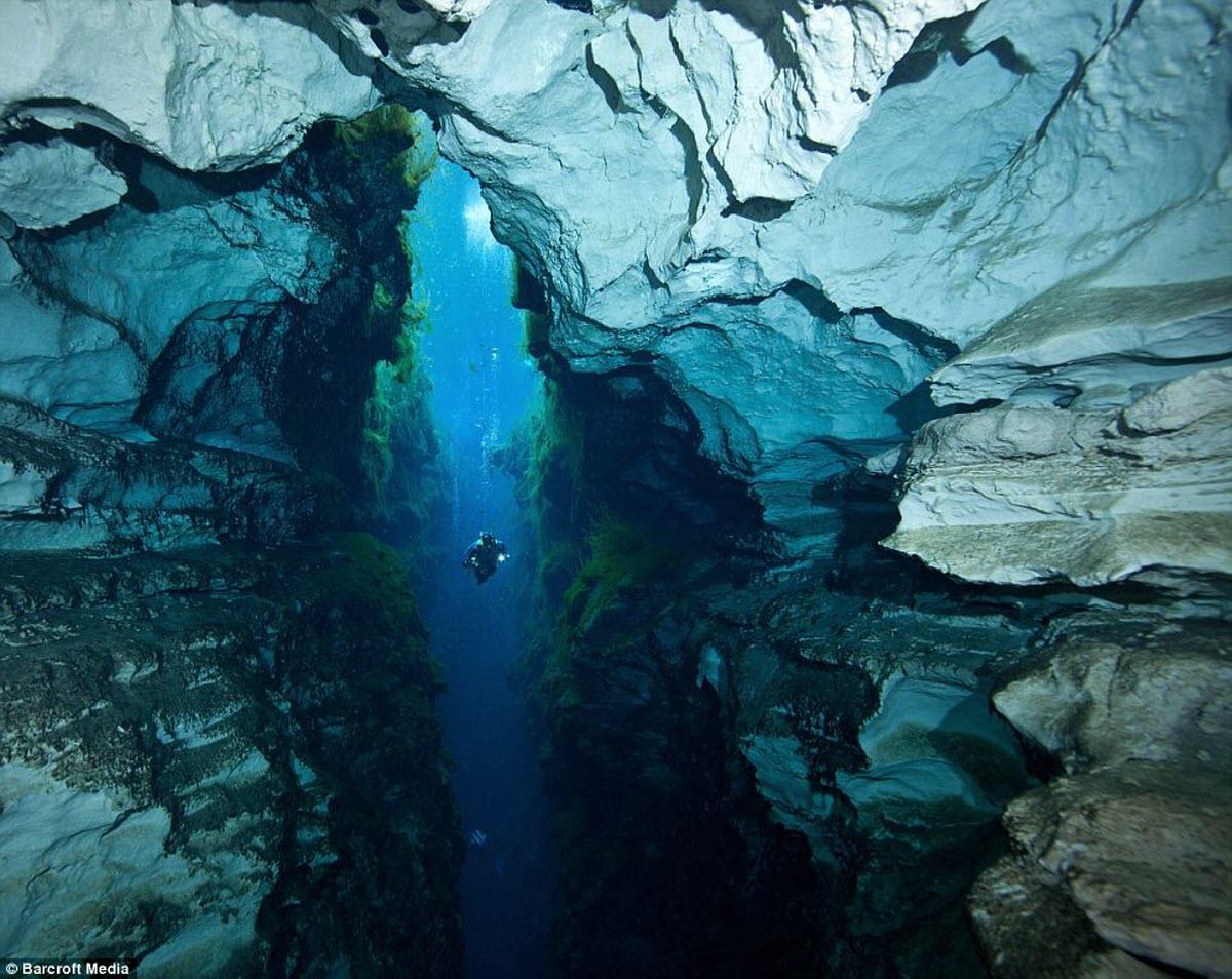 Cave Scuba Diving Swansea Glamorgan Wales United Kingdom