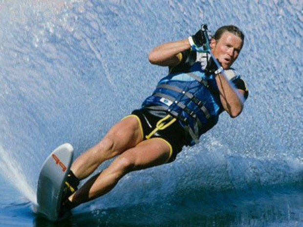 """""""Water Skier at Adobe Creek Reservoir"""""""