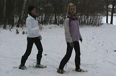 """""""Snowshoeing at Kimberley Alpine Resort"""""""