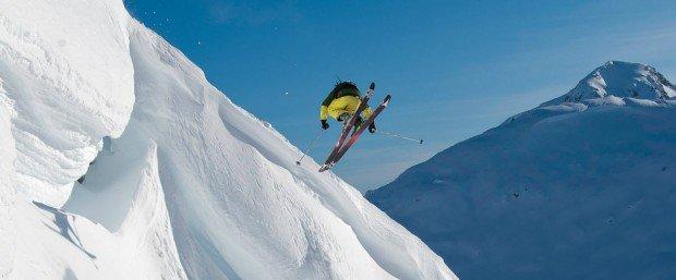 """Alpine Skier jumps at Arber"""