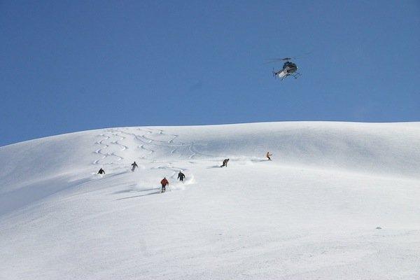 """Heli skiing at Kicking Horse Mountain Resort"""