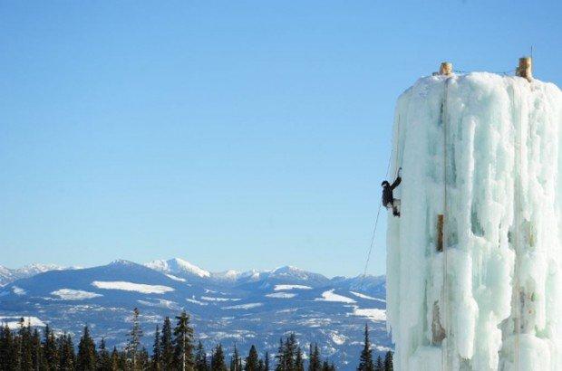 """Ice climbing at Big White Ski Resort"""