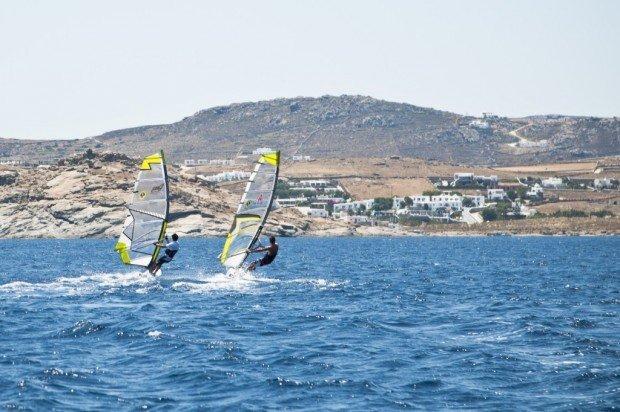 """Kalafati Beach, Mykonos Island Wind Surfing"""