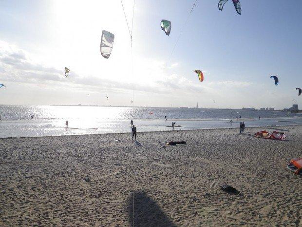 """Kitesurfing at St Kilda Beach"""