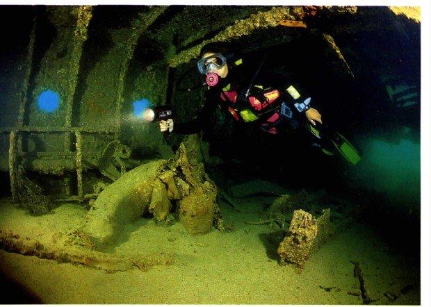 """Scuba diving HMS Maori wreck"""