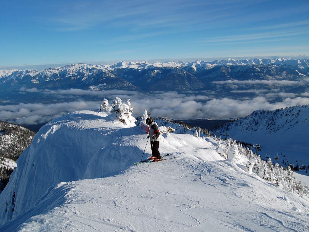 skiboarding kicking horse mountain resort golden british columbia canada