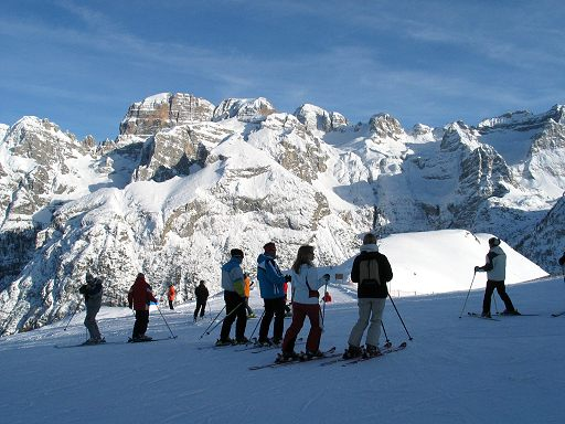"""Skiing in Campiglio Pinzolo"""