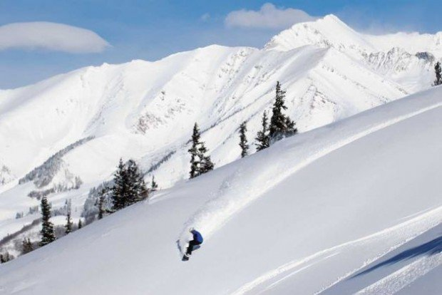 """""""Snowboarding at Crested Butte Mountain Resort"""""""