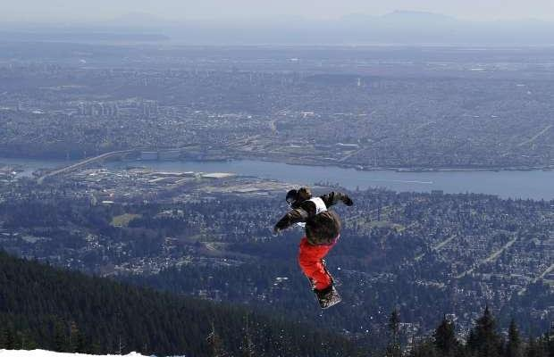 """""""Snowboarding at Grouse Mountain"""""""