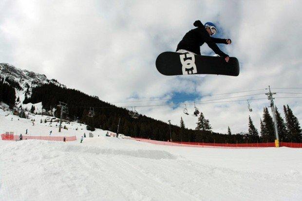 """Snowboarding at Mt Norquay"""