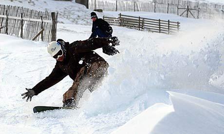 """Snowboarding at Nevis Range"""