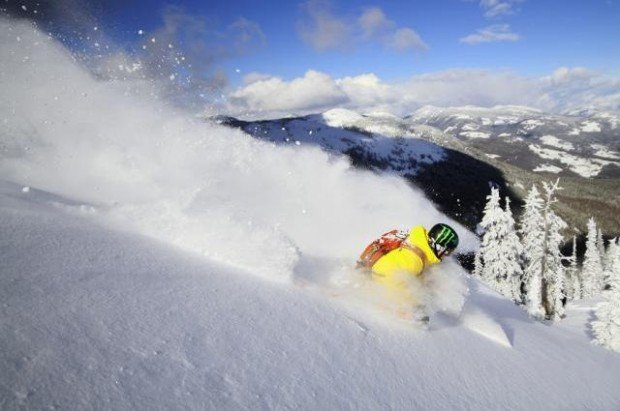 """""""Snowboarding at Silver Star Mountain"""""""