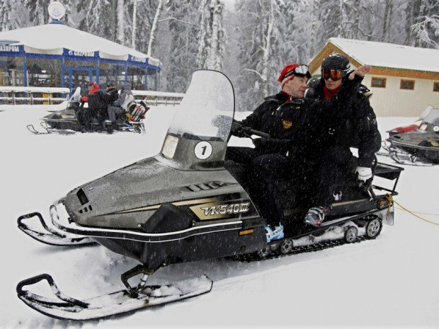 """""""Snowmobiling at Angel Fire Resort"""""""