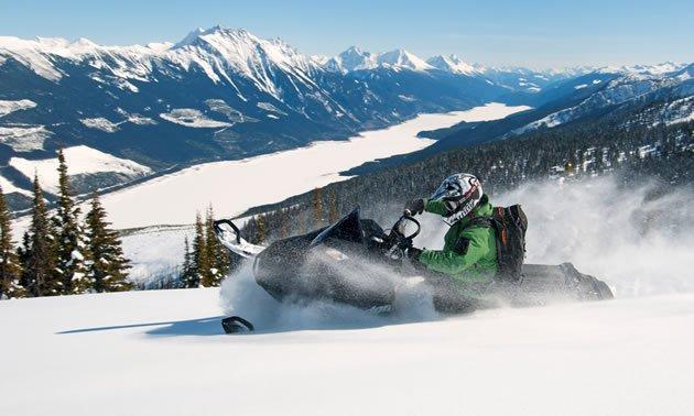 Snowmobiling Big White Ski Resort Kelowna British Columbia ...