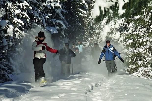 """Snowshoeing at Whistler Blackcomb Mountains"""