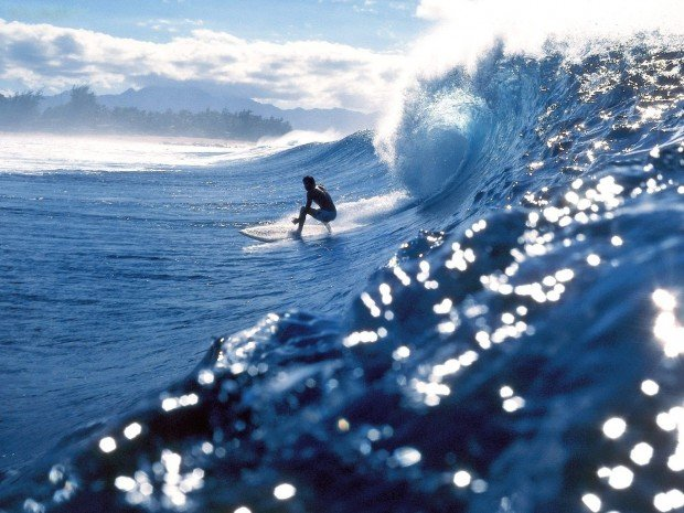 """Surfing Teahupo'o"""