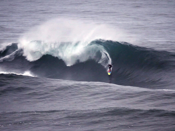 """Surfing at Big Left"""