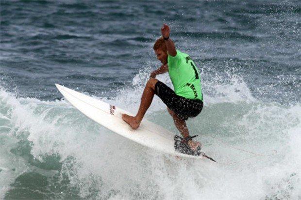 """Surfing at Elouera"""