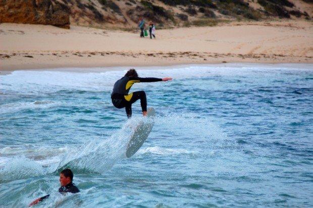 """""""Surfing at Koonya Reef"""""""