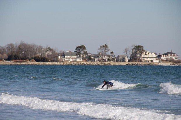 """""""Surfing at Rye Ocean Beach"""""""