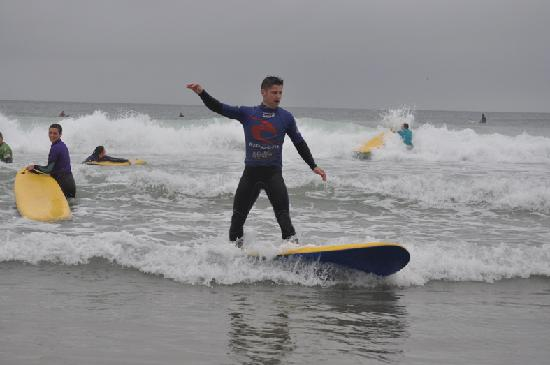 """""""Surfing at Tolcarne Beach"""""""