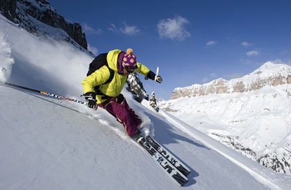 """Telemark Skiing in Passo Tonale"""