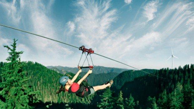 """""""Ziplining at Grouse Mountain"""""""