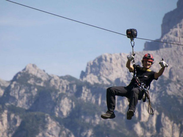 """Ziplining in San Vigilio di Marebbe in Kronplatz"""