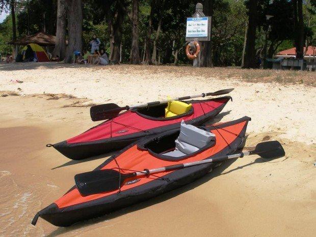 """Kayaking at the East Coast Park """