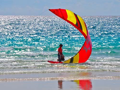 Kiteboarding At Surfside Beach